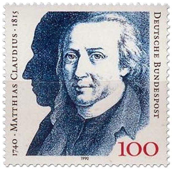 Briefmarke: Matthias Claudius (Dichter)