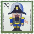 Briefmarke: Nussknacker AUS Holz