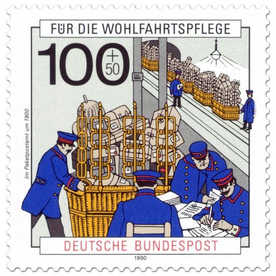 Briefmarke: Paketpostamt 1900