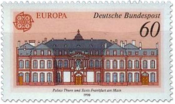 Briefmarke: Palais Thurn und Taxis Frankfurt/Main