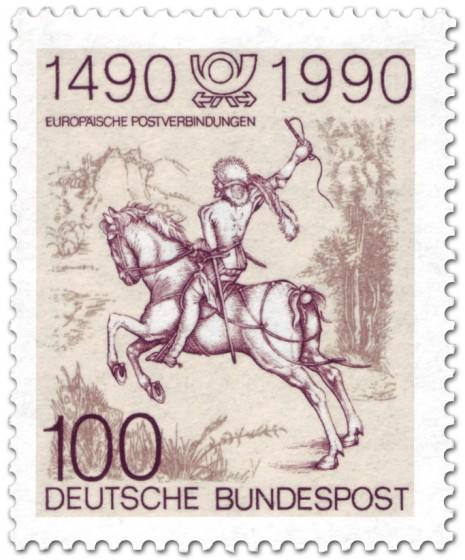 Briefmarke: Der kleine Postreiter (von Albrecht Dürer)
