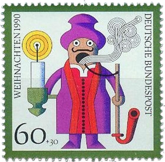 Briefmarke: Räuchermännchen (Kunsthandwerk)