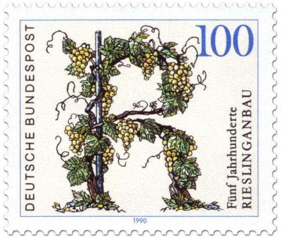 Briefmarke: 500 Jahre Riesling Weinanbau