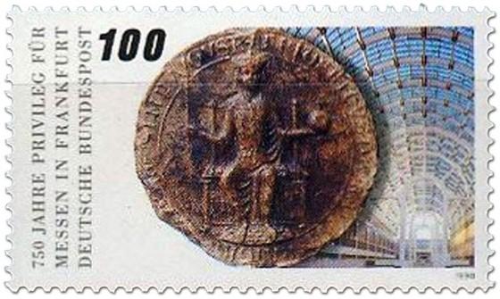 Briefmarke: 750 Jahre Frankfurter Messeprivileg