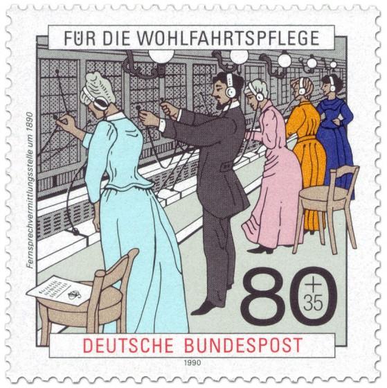 Briefmarke: Telefon Vermittlungsstelle