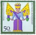 Briefmarke: Weihnachtsengel (Kunsthandwerk)