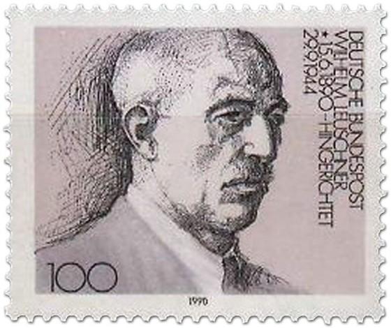 Briefmarke: Wilhelm Leuschner (1990)