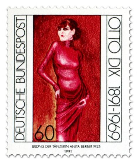 Briefmarke: Anita Berber - Gemälde von Otto Dix