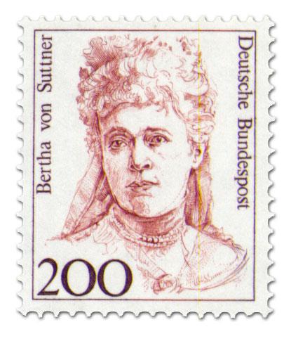 Briefmarke: Bertha Von Suttner 200