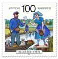 Briefmarke: Briefträger im Spreewald (Tag der Briefmarke)