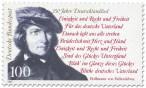 Briefmarke: 150 Jahre Deutschlandlied (Fallersleben)