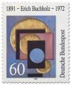 Briefmarke: Erich Buchholz Maler