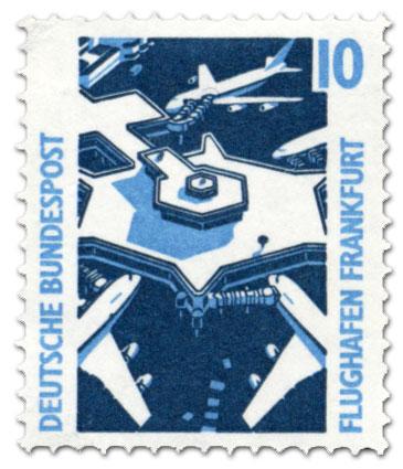 Briefmarke: Flughafen Frankfurt/Main