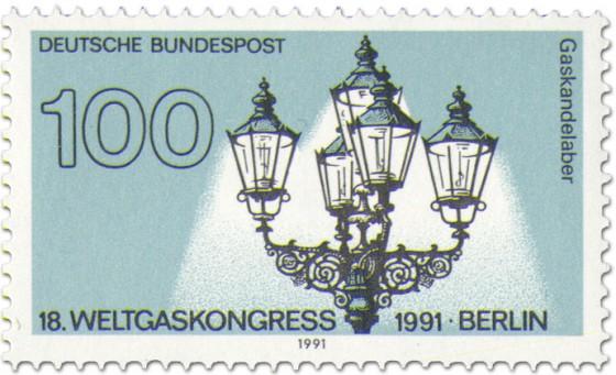 Briefmarke: Gaskandelaber (von K. F. Schinkel)