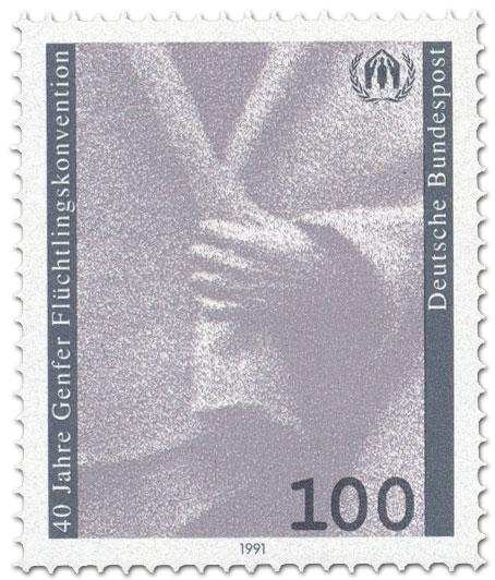 Briefmarke: 40 Jahre Genfer Flüchtlingskonvention