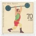 Briefmarke: Gewichtheber (WM Donaueschingen)