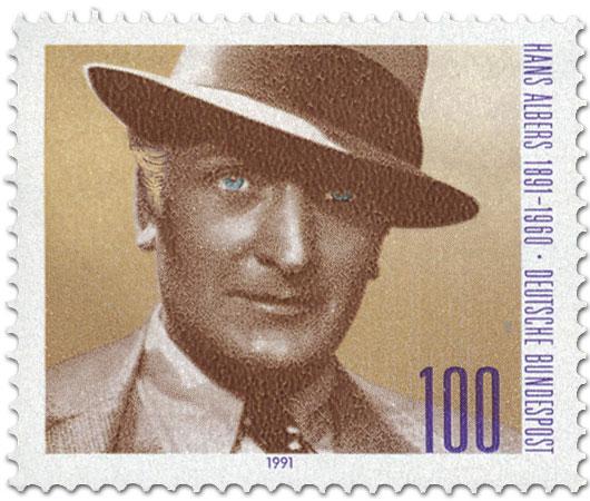 Briefmarke: Hans Albers Portrait