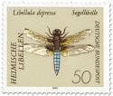 Briefmarke: Libelle Plattbauch (Libellula depressa)