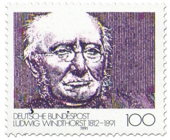Briefmarke: Ludwig Windthorst (Politiker)