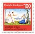 Briefmarke: Mittagsfrau Nochtenerin (Sorbische Sage)