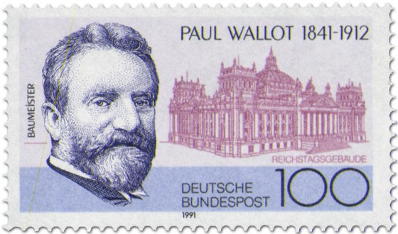 Briefmarke: Paul Wallot (Baumeister)