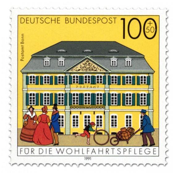 Briefmarke: Postamt Bonn