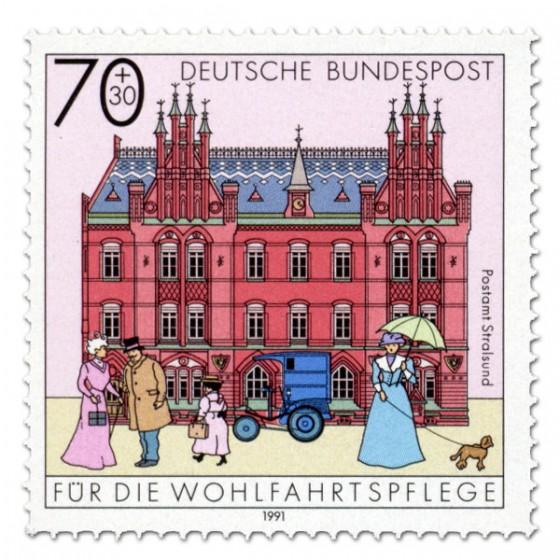 Briefmarke: Postamt Stralsund