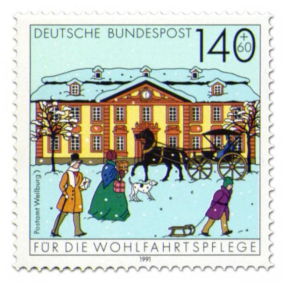 Briefmarke: Postamt Weilburg