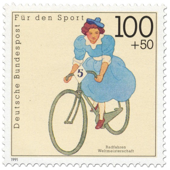 Briefmarke: Radfahren Frauen Wm