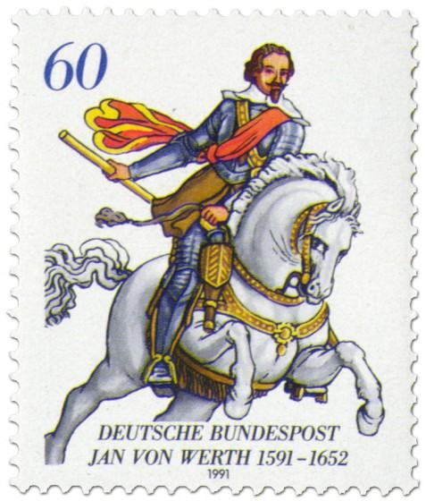 Briefmarke: Reitergeneral Jan von Werth