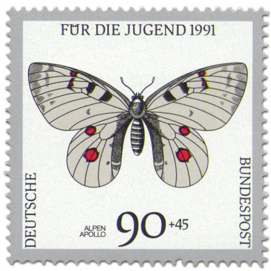 Briefmarke: Schmetterling Alpen Apollo