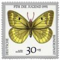 Briefmarke: Schmetterling Alpen Gelbling