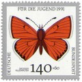 Briefmarke: Schmetterling Grosser Feürfalter