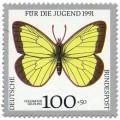 Briefmarke: Schmetterling Hochmoor Gelbling