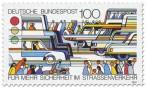 Briefmarke: Sicherheit im Straßenverkehr