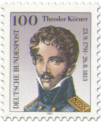 Briefmarke: Theodor Körner Portrait