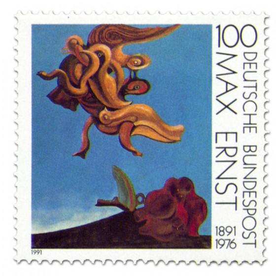Briefmarke: Gemälde Vogeldenkmal Max Ernst