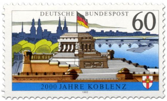 Briefmarke: 2000 Jahre Koblenz - Kaiser Wilhelm Denkmal