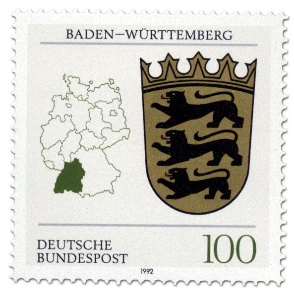 Wappen Baden Wurttemberg Briefmarke 1992