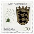 Briefmarke: Wappen Baden-Württemberg