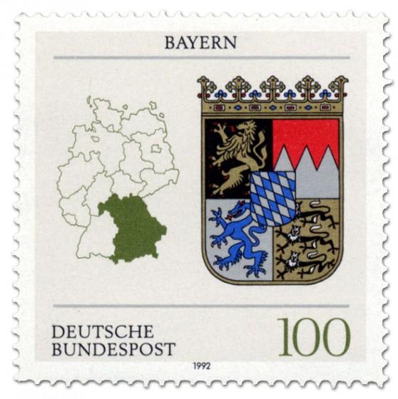 Briefmarke: Wappen Bayern