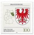 Briefmarke: Wappen Brandenburg