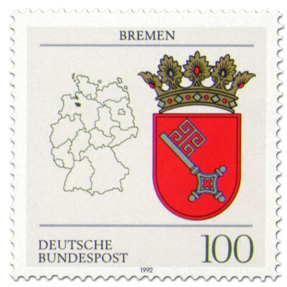Briefmarke: Wappen Bremen