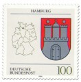 Briefmarke: Wappen Hamburg