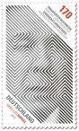 Briefmarke: Jorge Luis Borges (Frankfurter Buchmesse)