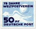 Brieftaube, 75 Jahre Weltpostverein
