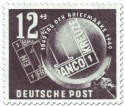 Briefmarke: Tag der Briefmarke: Bayern Einser unter Lupe