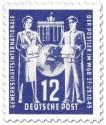 Briefmarke: Postler Gewerkschaft WGB (12, blau)