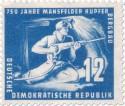 Briefmarke: Bergarbeiter im Stollen