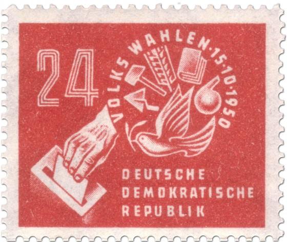 Briefmarke: Briefmarke zur DDR-Volkswahl 1950